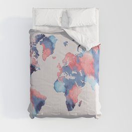 map world map 58 Comforters