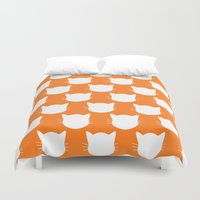 ginger Duvet Covers featuring Ginger Kitty by The Wellington Boot