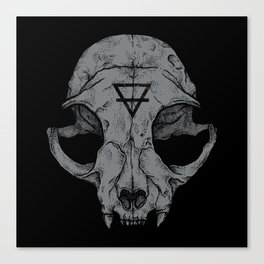 Cat Skull Canvas Print