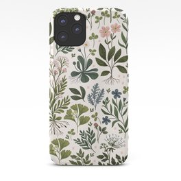 Herbarium ~ vintage inspired botanical art print ~ white iPhone Case