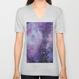 Space. Watercolor Unisex V-Neck