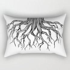 Tree Root Drawing (black on white) Rectangular Pillow