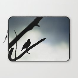 Silhouetted Singer Laptop Sleeve