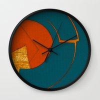 scorpio Wall Clocks featuring Scorpio by Fernando Vieira