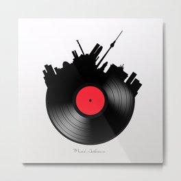 Berlin minimal record  Metal Print