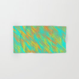 green blue orange and yellow painting texture abstract background Hand & Bath Towel