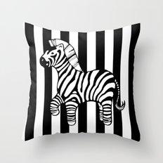 zebra stripe Throw Pillow