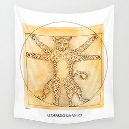 Leopardo da Vinci Wall Tapestry