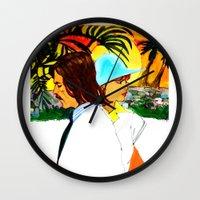 hollywood Wall Clocks featuring Hollywood by Ecsentrik