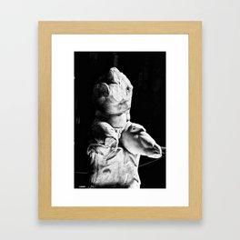 Statue Framed Art Print