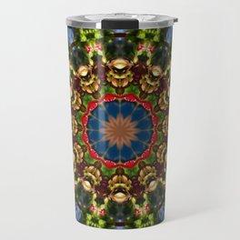Nature Flower Mandala 006.1, Floral mandala-style Travel Mug