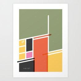 SECRET CYCLING FLAG - VOIGT Art Print