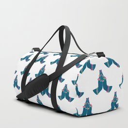 Namasté Hands - Blue Duffle Bag