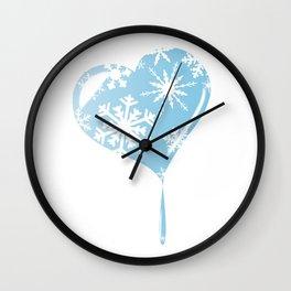 Melting Ice Heart Wall Clock