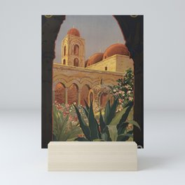 Vintage Travel Poster - Palermo, Sicilia - Vintage Italy Travel Poster Mini Art Print