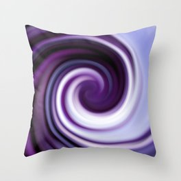 Hypnotic Amethyst Throw Pillow
