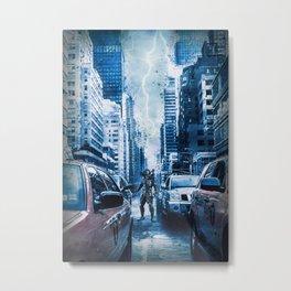 Predator Storm City Metal Print