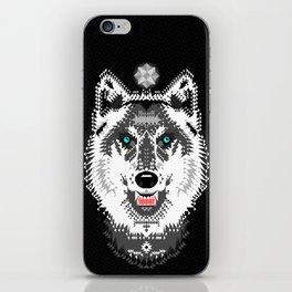Silver Wolf Geometric iPhone Skin