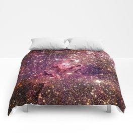 Galaxy : Eagle Nebula Mauve Burgundy Purple Gold Comforters
