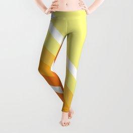 Retro Orange n' Yellow Lines Leggings