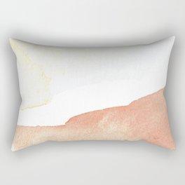 Terra Cotta Hills Abstract Desert Mountain Landsape with Watercolor Rectangular Pillow