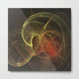 Abstract Art Magic Flame Metal Print