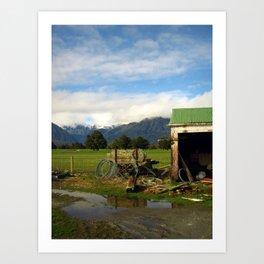 New Zealand Pasture Art Print