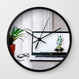 clean workspace Wall Clock