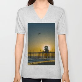 Seagulls and the Sun Unisex V-Neck