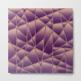 'Quilted' Geometric in Antiqued Purple Metal Print