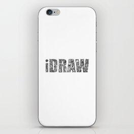 iDRAW_BLACK iPhone Skin