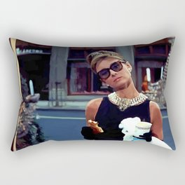 Audrey Hepburn #3 @ Breakfast at Tiffany's Rectangular Pillow