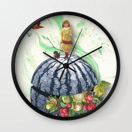 WATERMELON WALK Wall Clock