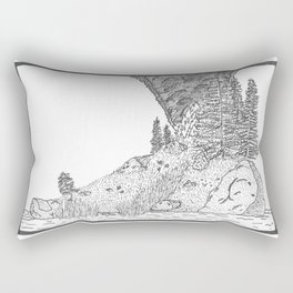 Fire on Foot Island Rectangular Pillow