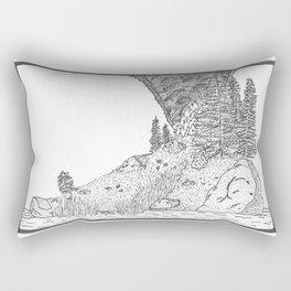 Fire on Foot Island Rectangular Pillow