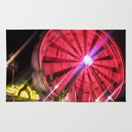 Spinning Your Wheels the ferris wheel carnival ride Rug