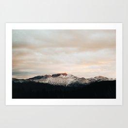 Sunset on Trail Ridge Art Print