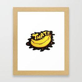 That's Bananas Framed Art Print