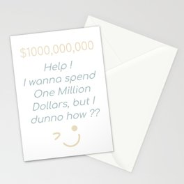 One Million Dollars Stationery Cards