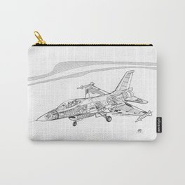 F16 Cutaway Freehand Sketch Carry-All Pouch