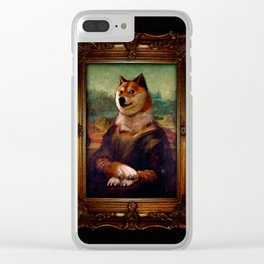 Doge Mona Lisa Fine Art Shibe Meme Painting Clear iPhone Case