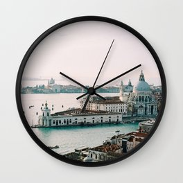 December Sunset, Venice Wall Clock