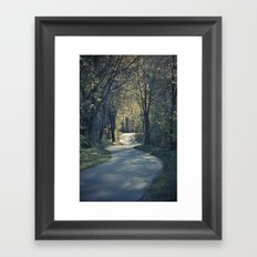 The love trail Framed Art Print