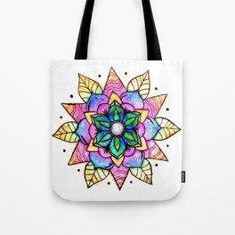 Flower Mandala Tote Bag