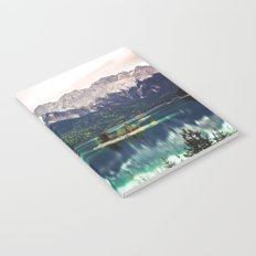 Green Blue Lake and Mountains - Eibsee, Germany Notebook