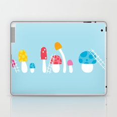 Mushroom Maintenance Blue Laptop & iPad Skin
