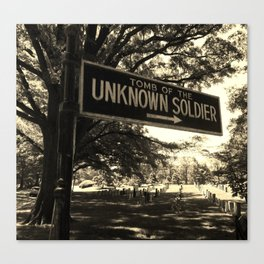 Unknown Soldier Canvas Print