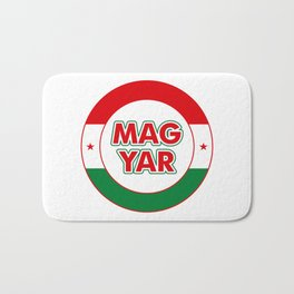 Magyar, circle, color Bath Mat