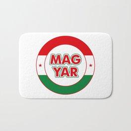 Magyar, circle, color Bath Mat