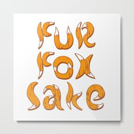 fur fox sake Metal Print
